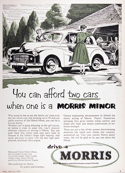 1954 Morris Minor 2-Door Vintage Ad #025566