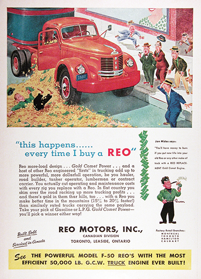1954 REO F-50 Tractor Vintage Ad #025570