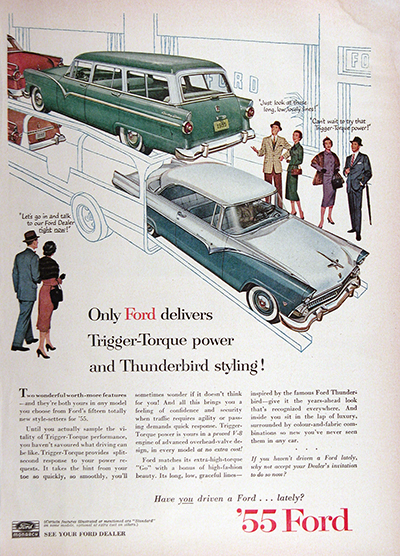 1955 Ford Monarch CDN Model Vintage Ad #025589