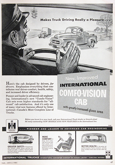 1955 International Pickup Truck Vintage Ad #025593