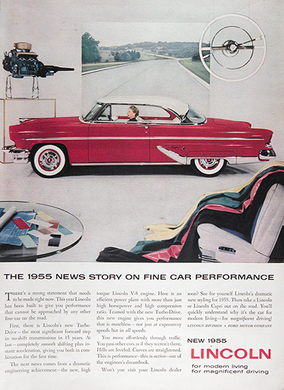 1955 Lincoln Capri Coupe Vintage Ad #025594
