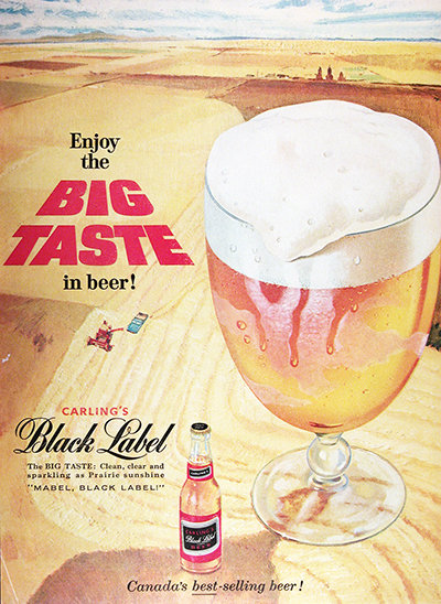 1959 Carling Black Label Beer Vintage Ad #025654