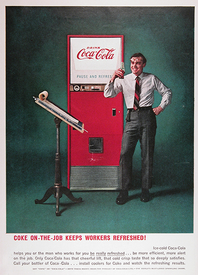 1959 Coca Cola Machine Vintage Ad #025659