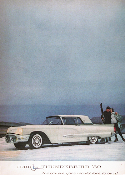 1959 Ford T-Bird Vintage Ad
