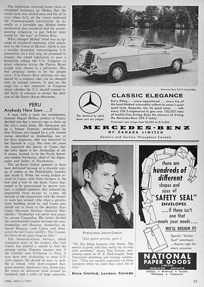 1959 Mercedes Benz 220 S Convertible Vintage Ad #025905