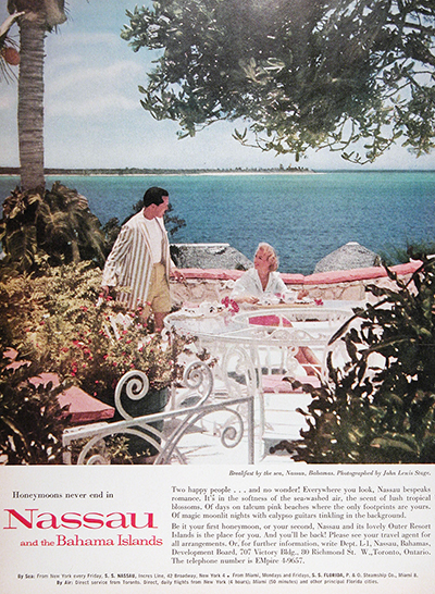 1959 Breakfast on Nassau Vintage Ad