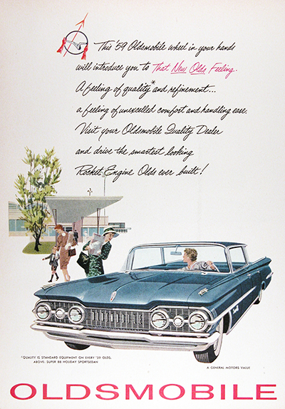 1959 Oldsmobile Super 88 Holiday Sedan Vintage Ad #025909