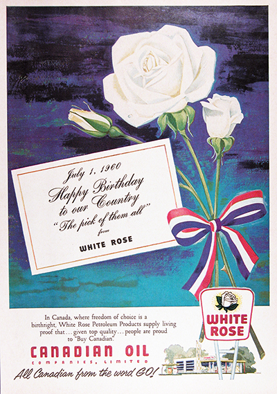 1960 White Rose 1 Vintage Ad #025720