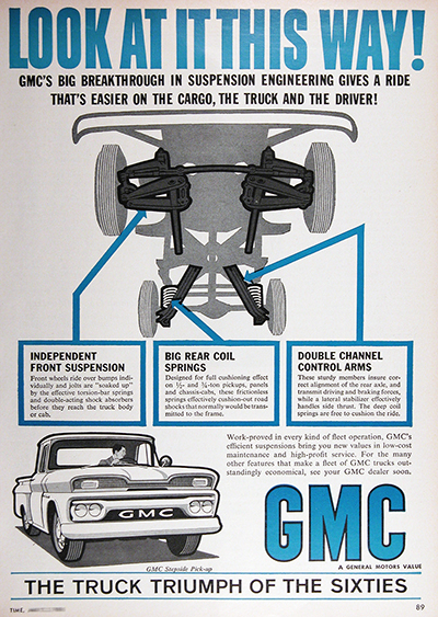 1961 GMC Pickup Trucks Vintage Ad #025734