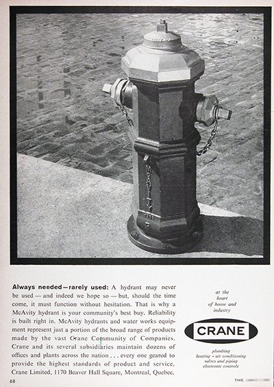 1961 McAvity Fire Hydrants Vintage Ad #025742