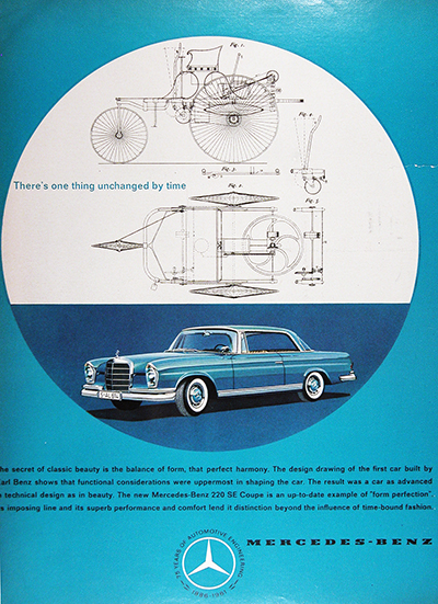 1961 Mercedes Benz 220 SE Coupe Vintage Ad #025744
