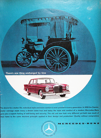 1961 Mercedes Benz Sedan Vintage Ad #025743