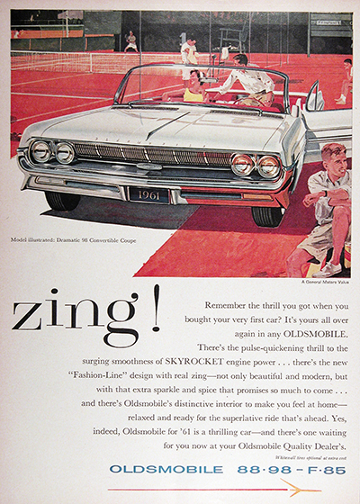 1961 Oldsmobile 98 Convertible Vintage Ad #025747