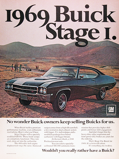 1969 Buick GS 400 Stage 1 Vintage Ad #026044