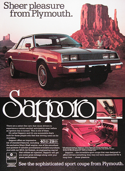 1979 Plymouth Sapporo Coupe Vintage Ad #026006