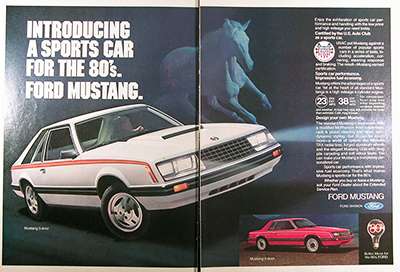1980 Ford Mustang Vintage Ad #025875