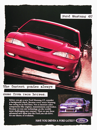 1995 Ford Mustang GT Vintage Ad #025960