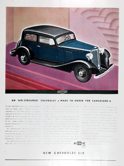 1933 Chevrolet Six 2-Door Sedan Vintage Ad #09946