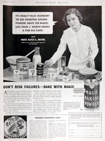 1934 Magic Baking Powder Vintage Ad #025426