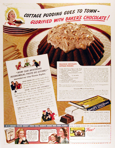 1939 Baker's Chocolate Vintage Ad #025493