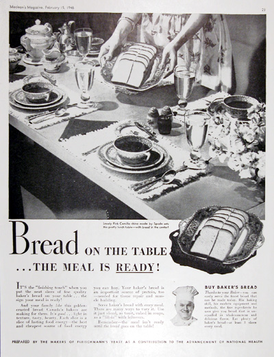 1946 Buy Bread Vintage Ad #025420