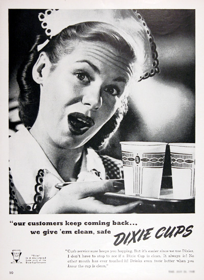 1948 Dixie Cups Vintage Ad #025434