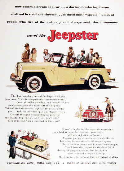 1948 Jeepster Convertible Vintage Ad #025431