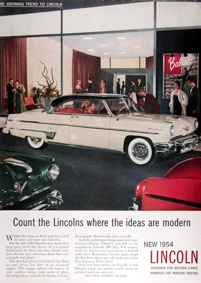 1954 Lincoln Capri Coupe Vintage Ad #025397