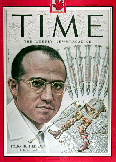 1954 Time Cover Dr. Jonas Salk #025413