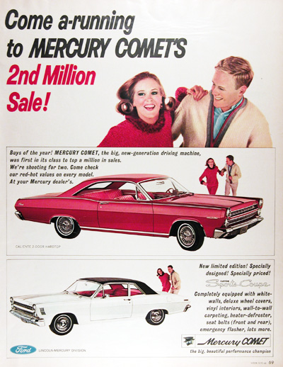 1966 Mercury Comet Caliente Sports Coupe Vintage Ad #010547