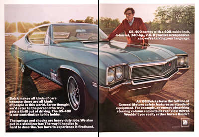 1968 Buick GS 400 Vintage Ad #025484