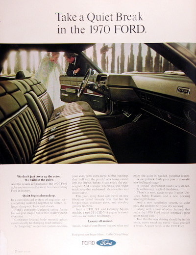1970 Ford LTD Vintage Ad #0120892