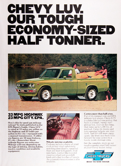 1977 Chevy LUV Truck Vintage Ad #005225