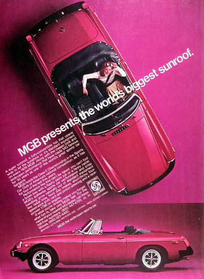 1977 MGB Convertible Roadster Vintage Ad #005229