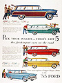 1955 Ford Station Wagon Line
