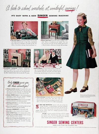 Have Singer sewing vintage ads apologise, but